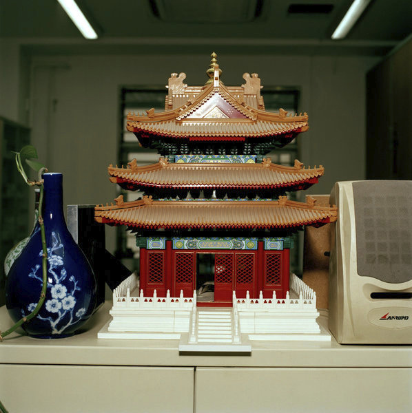 Plastic model of a temple.
